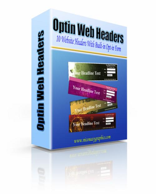 Product picture Optin Web Headers ¡Guaranteed! Full Version