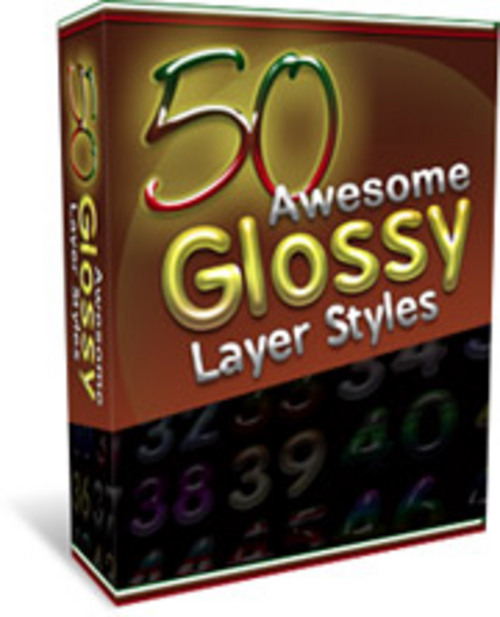 Product picture 50 Awesome Glossy Layer Styles ¡Guarantedd! Full Version